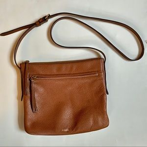 FOSSIL camel crossbody purse